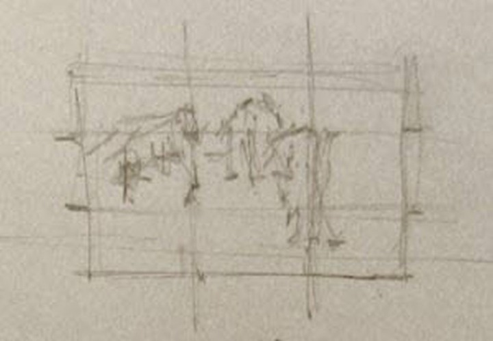 A thumbnail sketch that places the images.