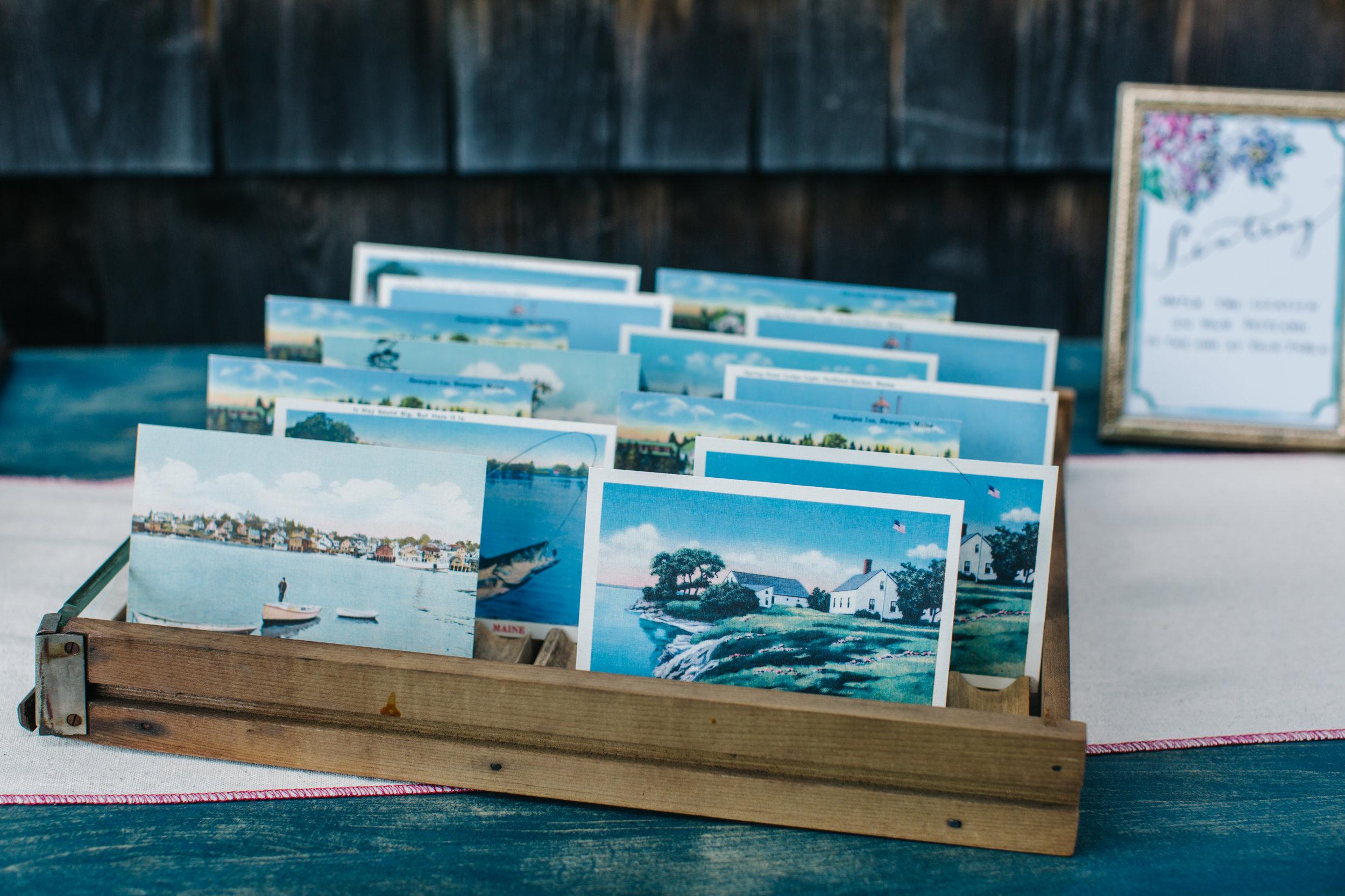 Vintage Postcard Escort Cards  Photo By Greta Tucker