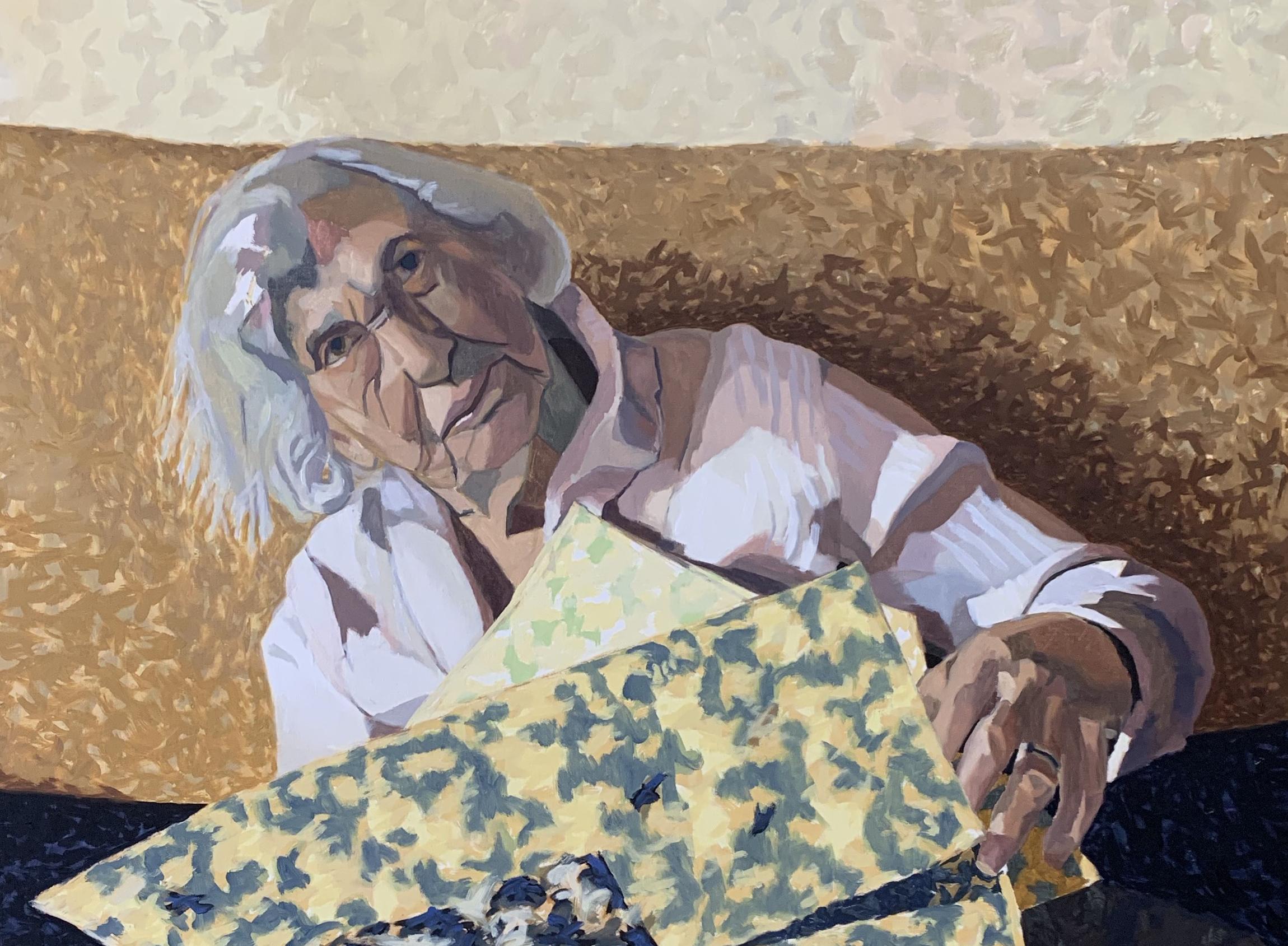 Grandma with Newspaper