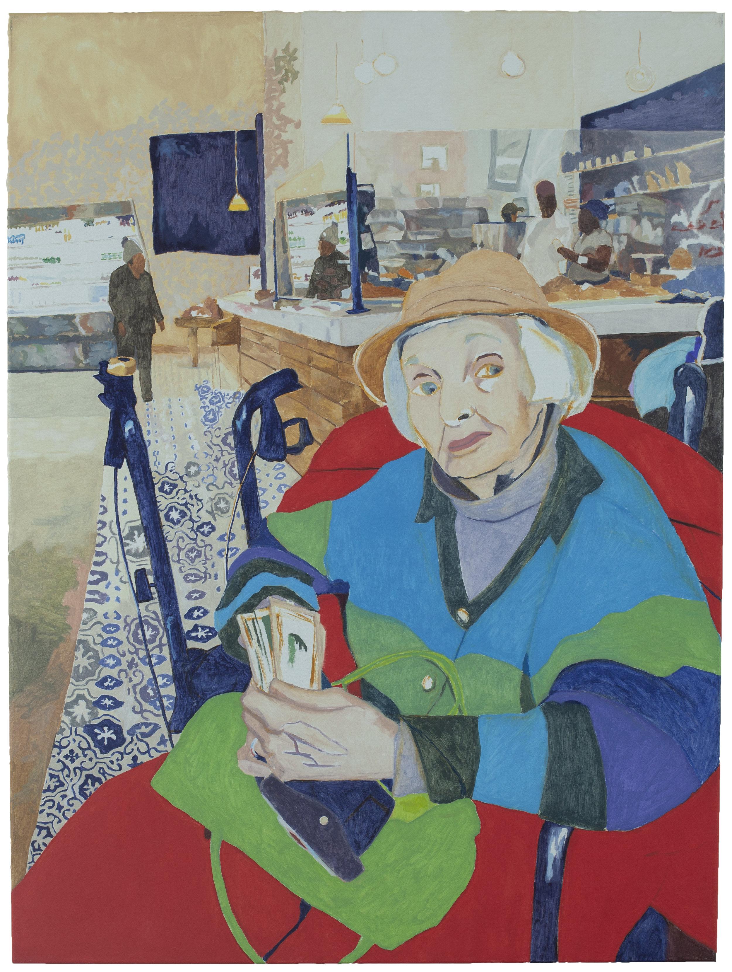 Grandma at the Cafe