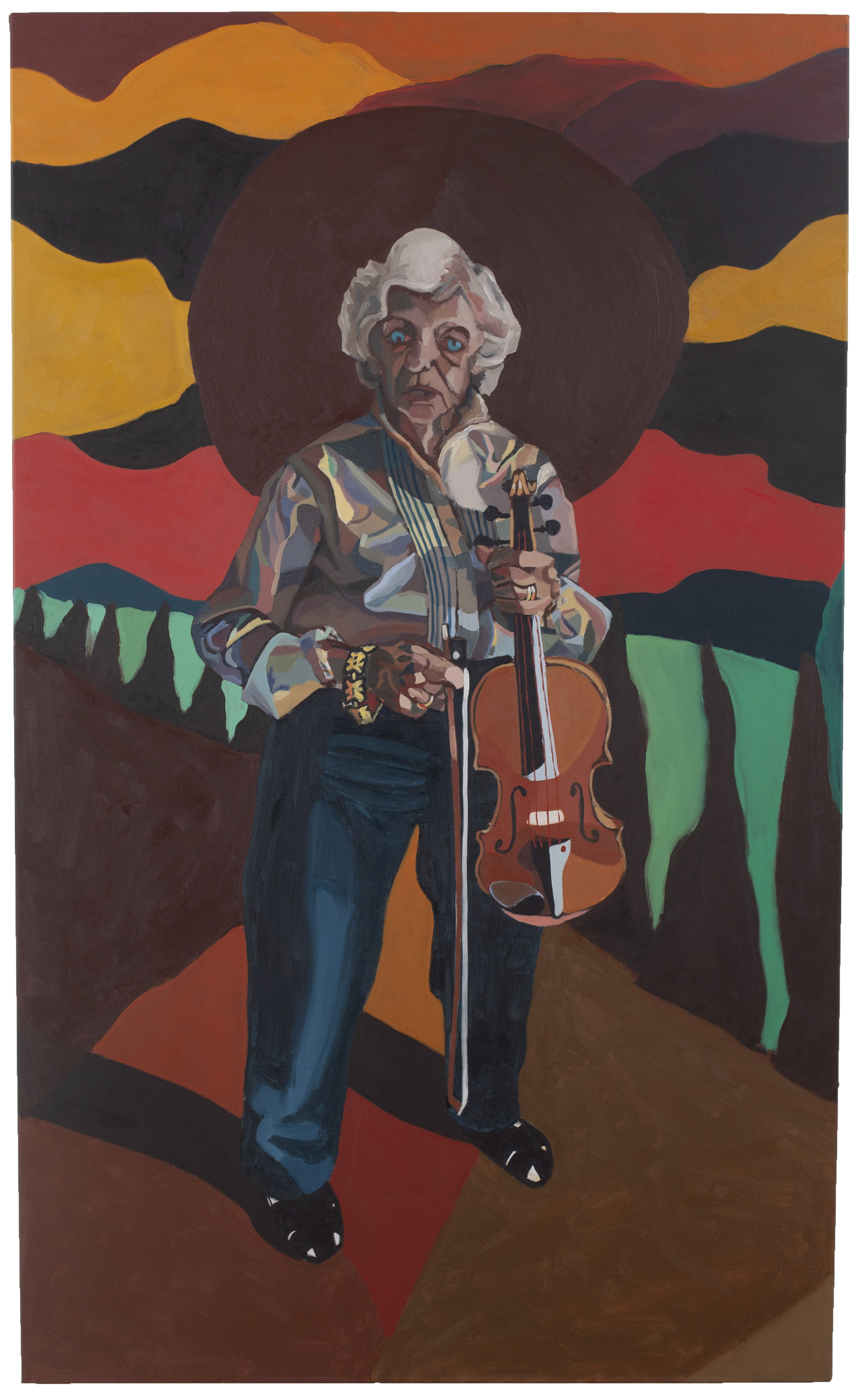 Grandma with Violin