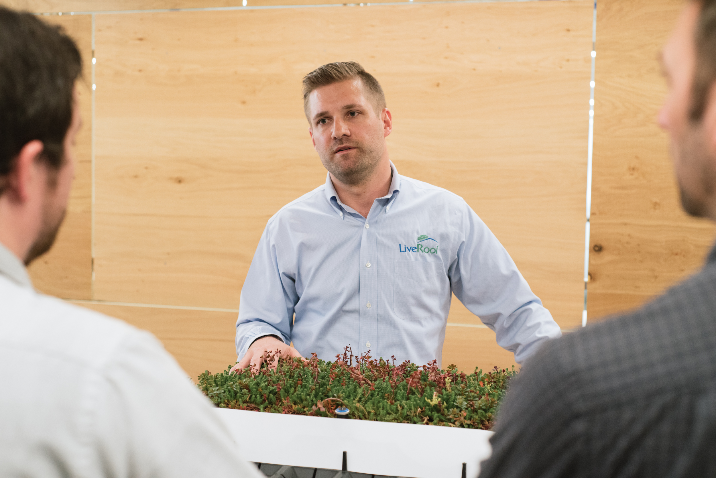 Stephen and Michael have a look at green roof systems by Greenroof