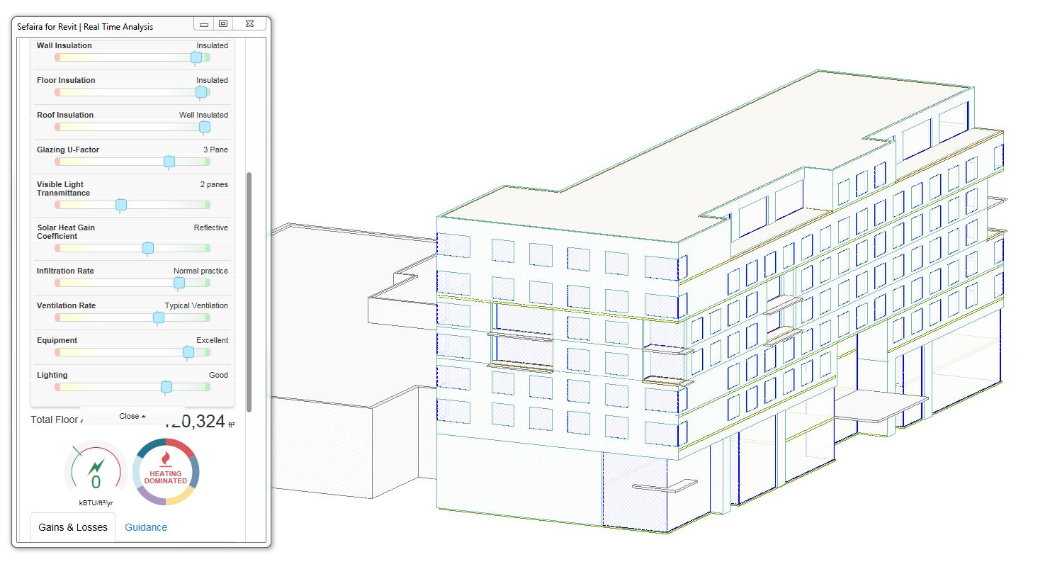 Sefaira energy model for the Canopy Hotel in Grand Rapids