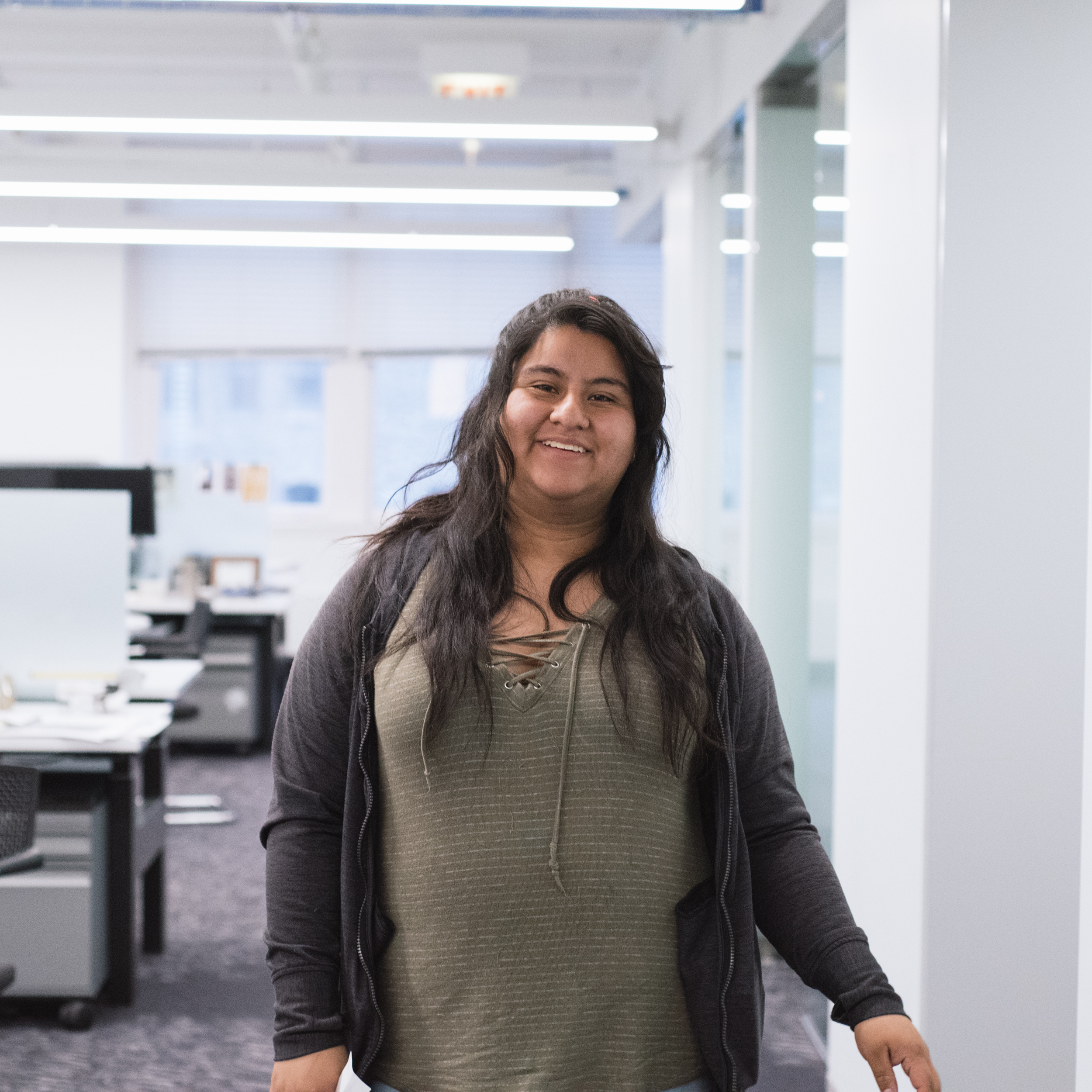 "Nancy Villalobos  Grauated from Lane Tech College Prep, pursuing Architecture/Interior Design at Harold Washington College.   ""Our ACE Instagram scavenger hunt was great. I learned a lot about different architectural features."""