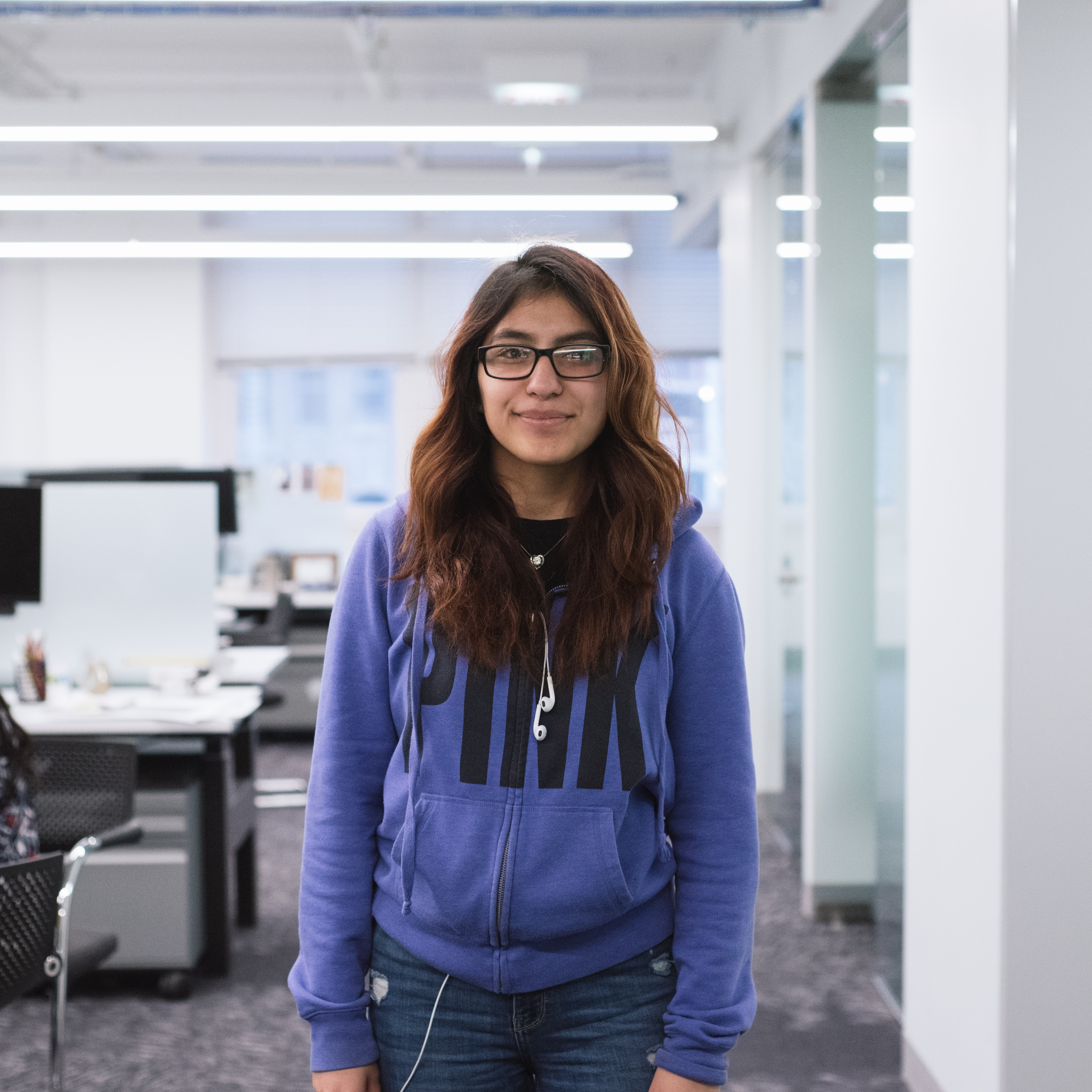 "Jasmin Ayala   Senior at Lake View High School, interested in Architecture.   ""Lego Lab, meeting new friends, the Instagram Scavenger Hunt, the Construction Site visit, basically most of the activities were my favorite memory. I had a great experience."""