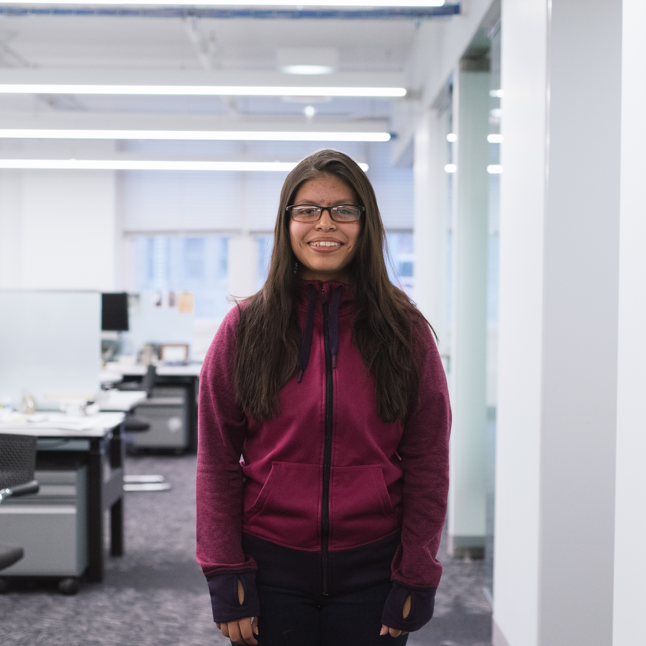 "Martha Morales  Senior at Lake View High School, interested in Architecture and Engineering.   ""Lego Lab, learning the design process, and becoming familiar with cool buildings from around the world."""