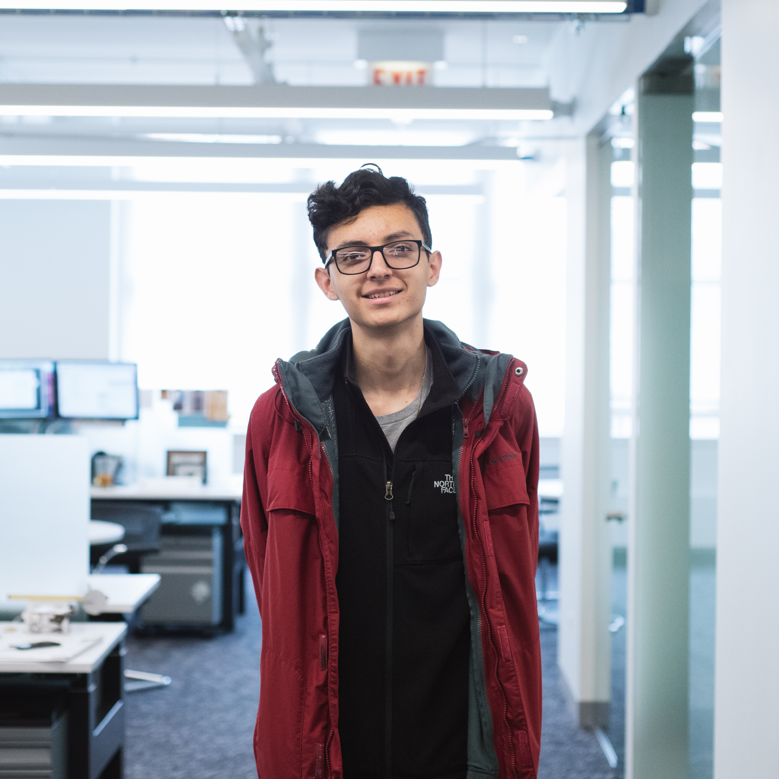 "Gerardo Lopez  Senior at ACERO – Major Hector P. Garcia, interested in Architecture.   ""The building activity where we managed our time and resources to construct a paper building. This activity made me feel like I was part of a real firm and was actually working towards my dream coming true."""