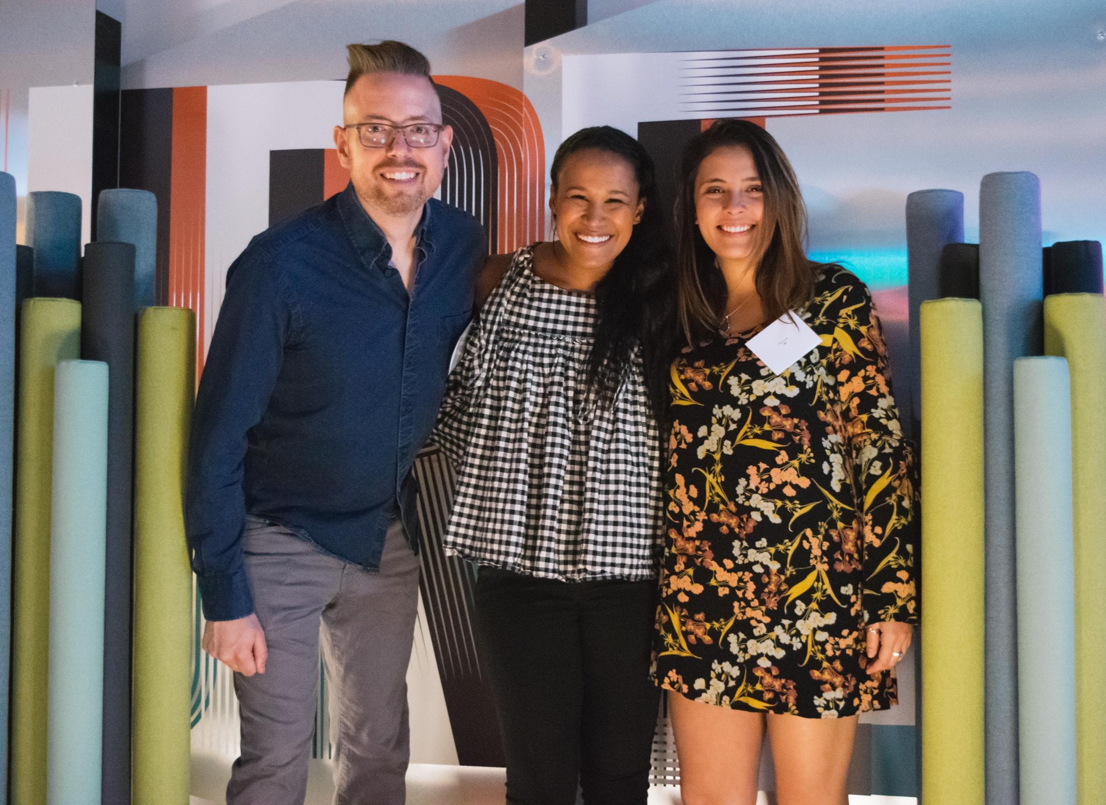 Design team (from left to right): Noah Jeppson, Siobhan Klinkenberg & Paula Vives