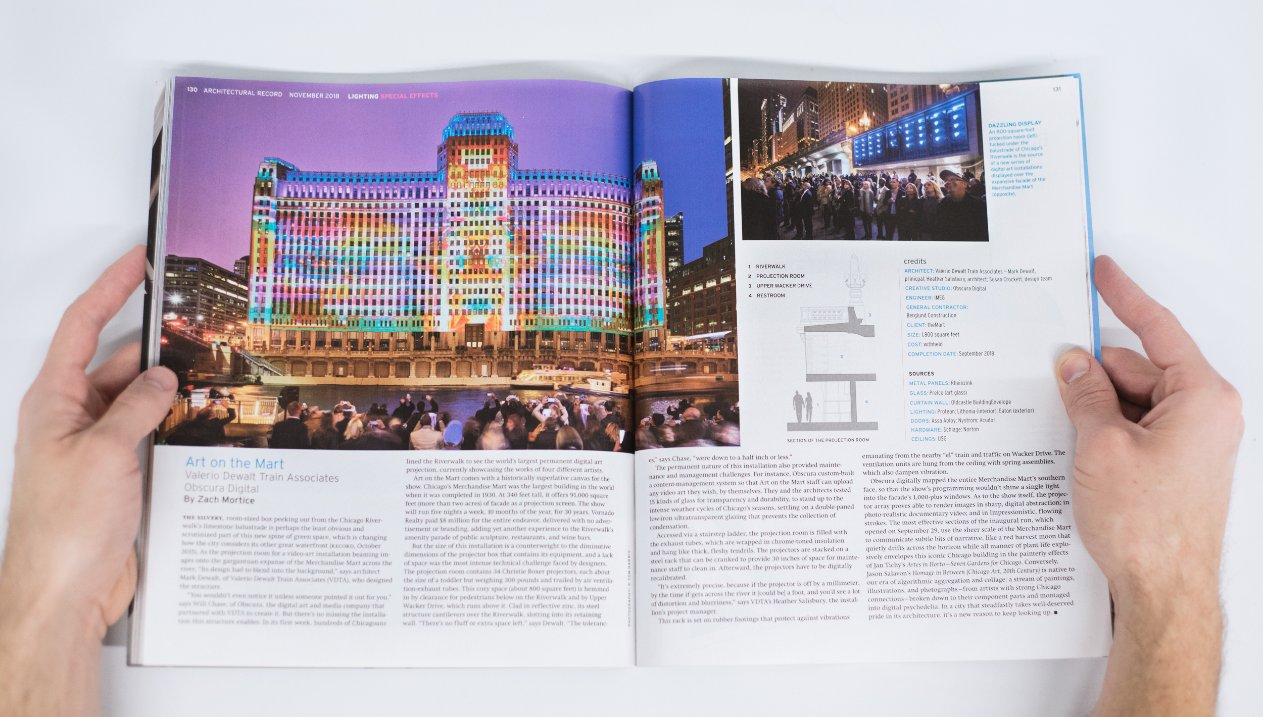 Art on theMart featured in Architectural Record Magazine
