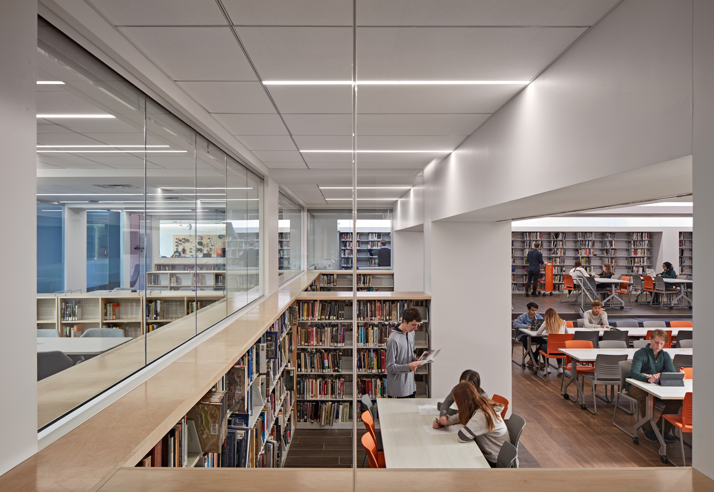 View of Library at the Latin School of Chicago, Chicago, IL (Photo by Tom Harris)