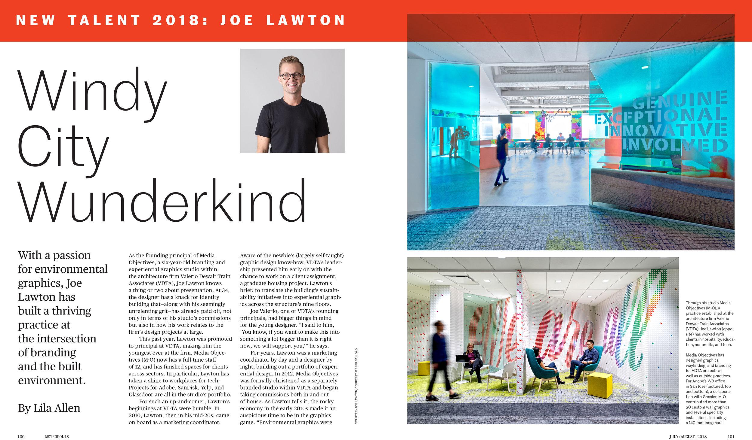 Joe Lawton and Media Objectives featured in Metropolis Magazine