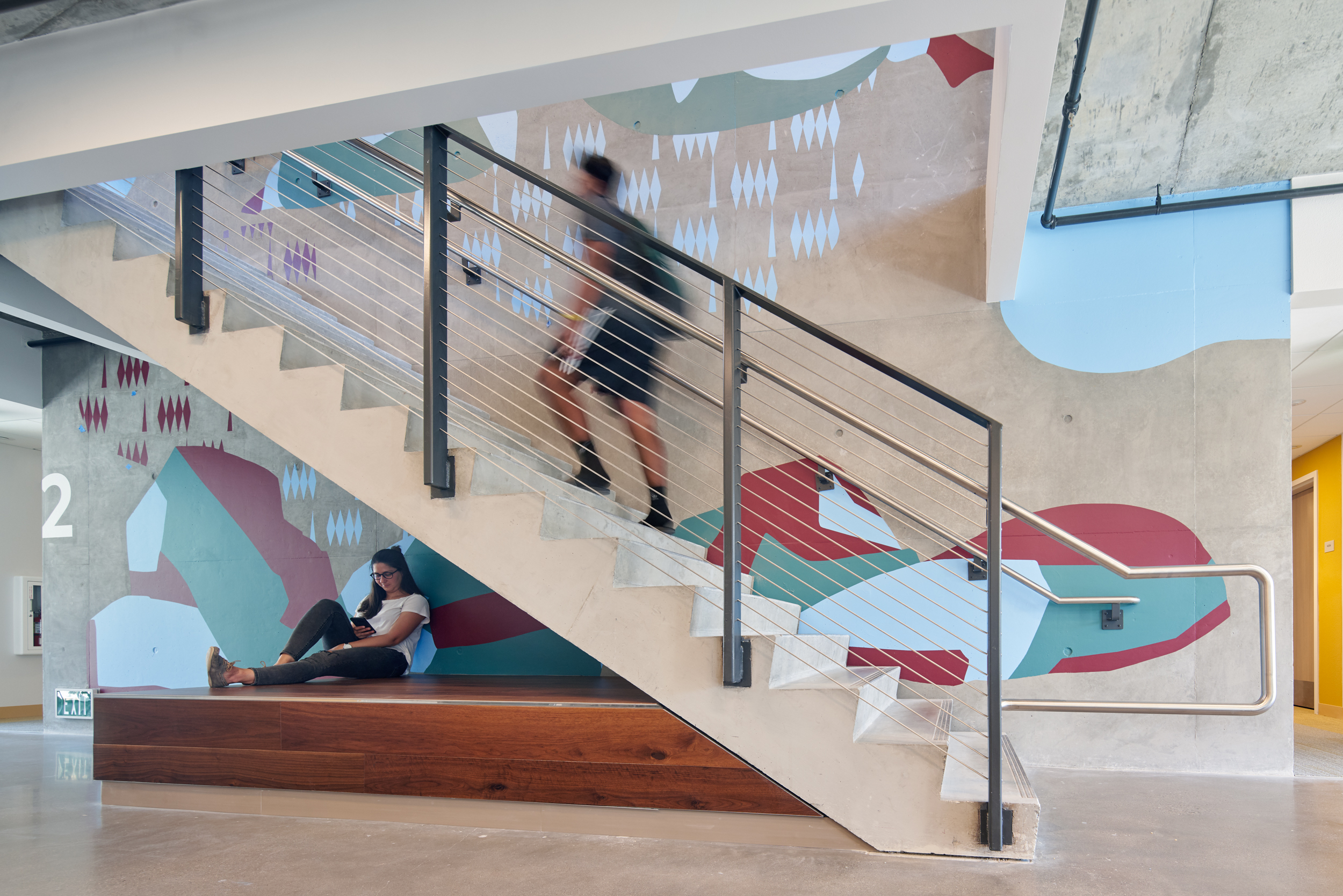 Cal Poly Wall Art by Media Objectives  (Photo by Bruce Damonte)