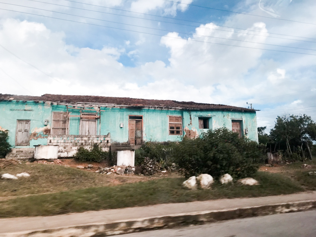 We drove all back roads from Santa Clara to Trinidad – hard realities of a third world country