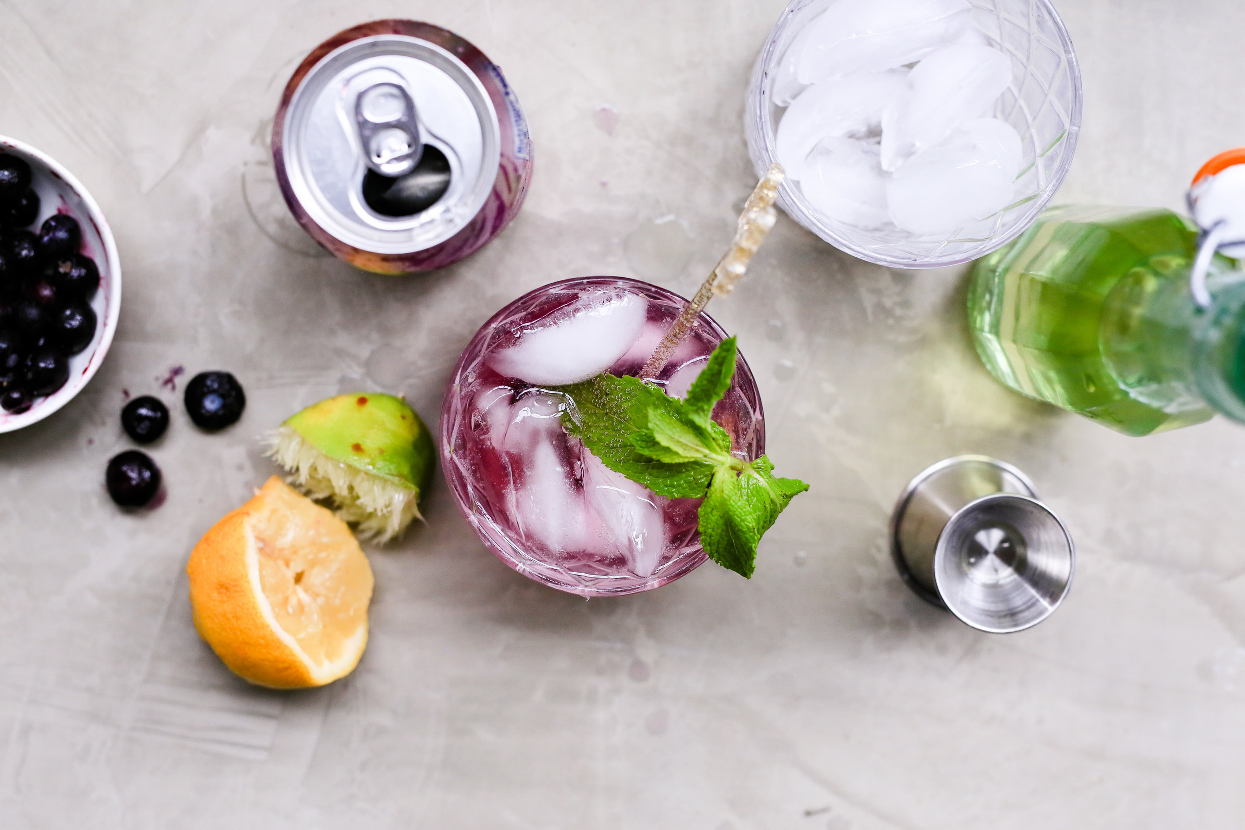 Blueberry Mint Limonade Recipe
