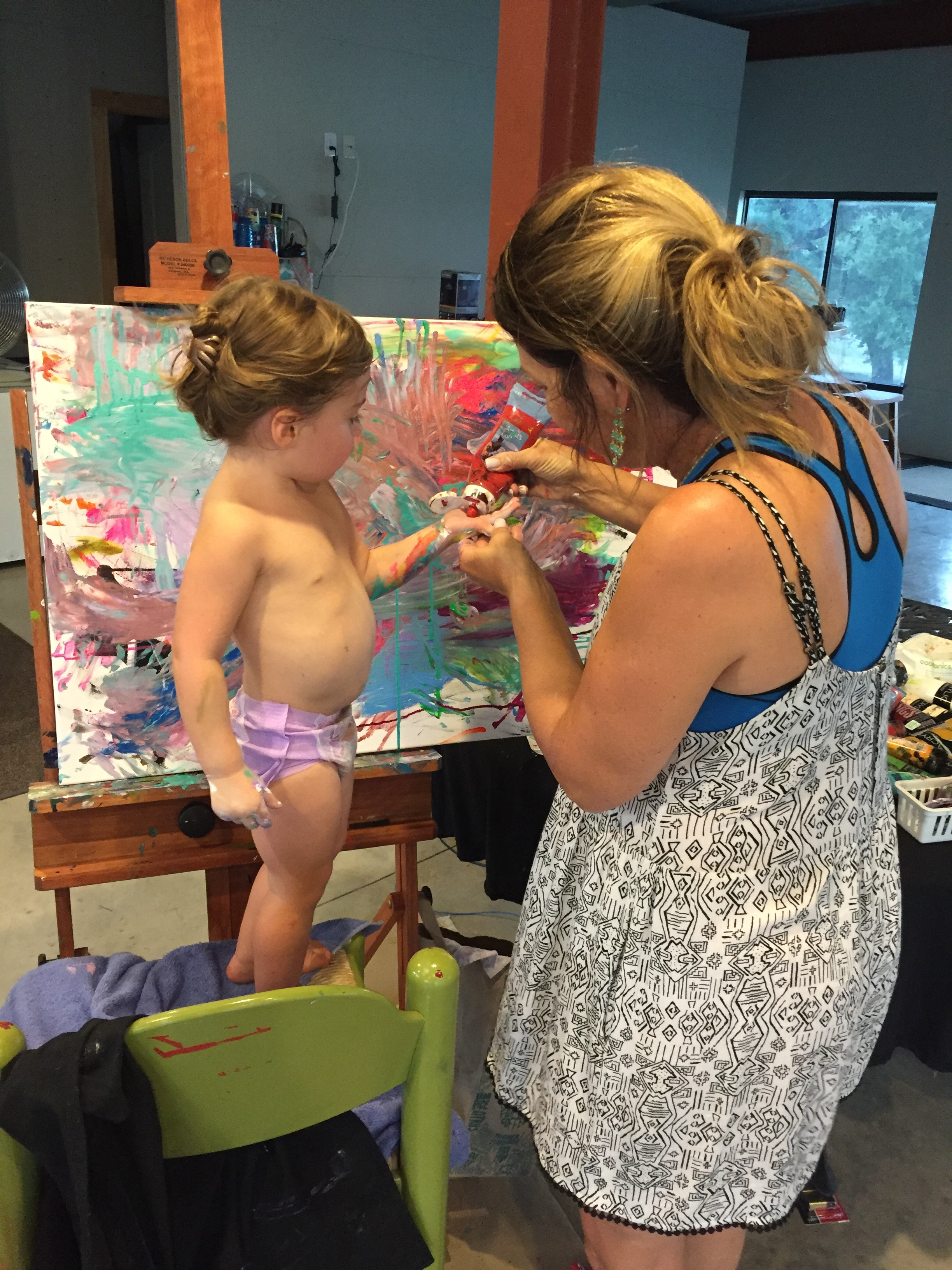 """Our """"happy place""""...Together painting is the BEST PLACE to be!"""