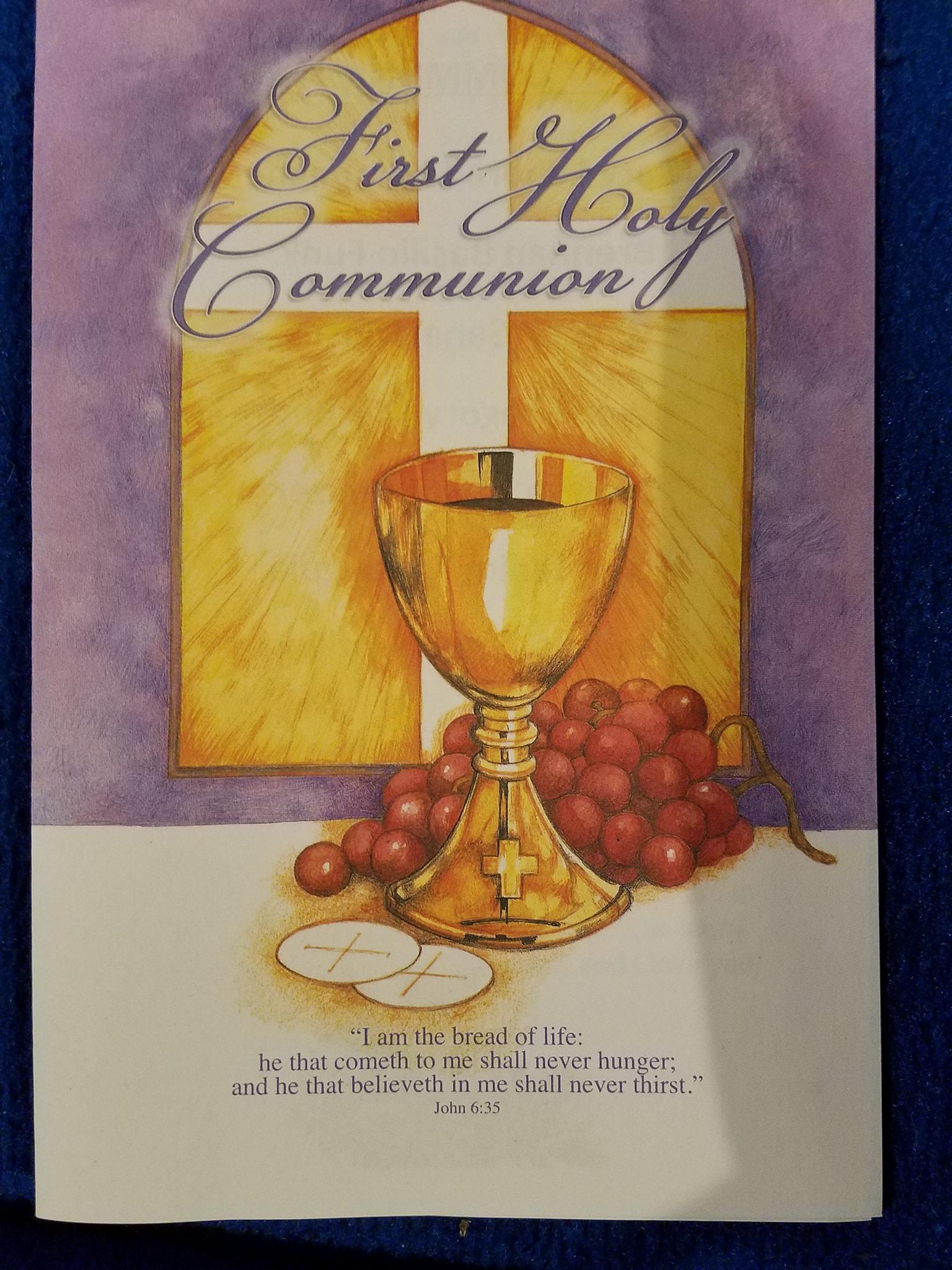 1st Communion April 29, 2018