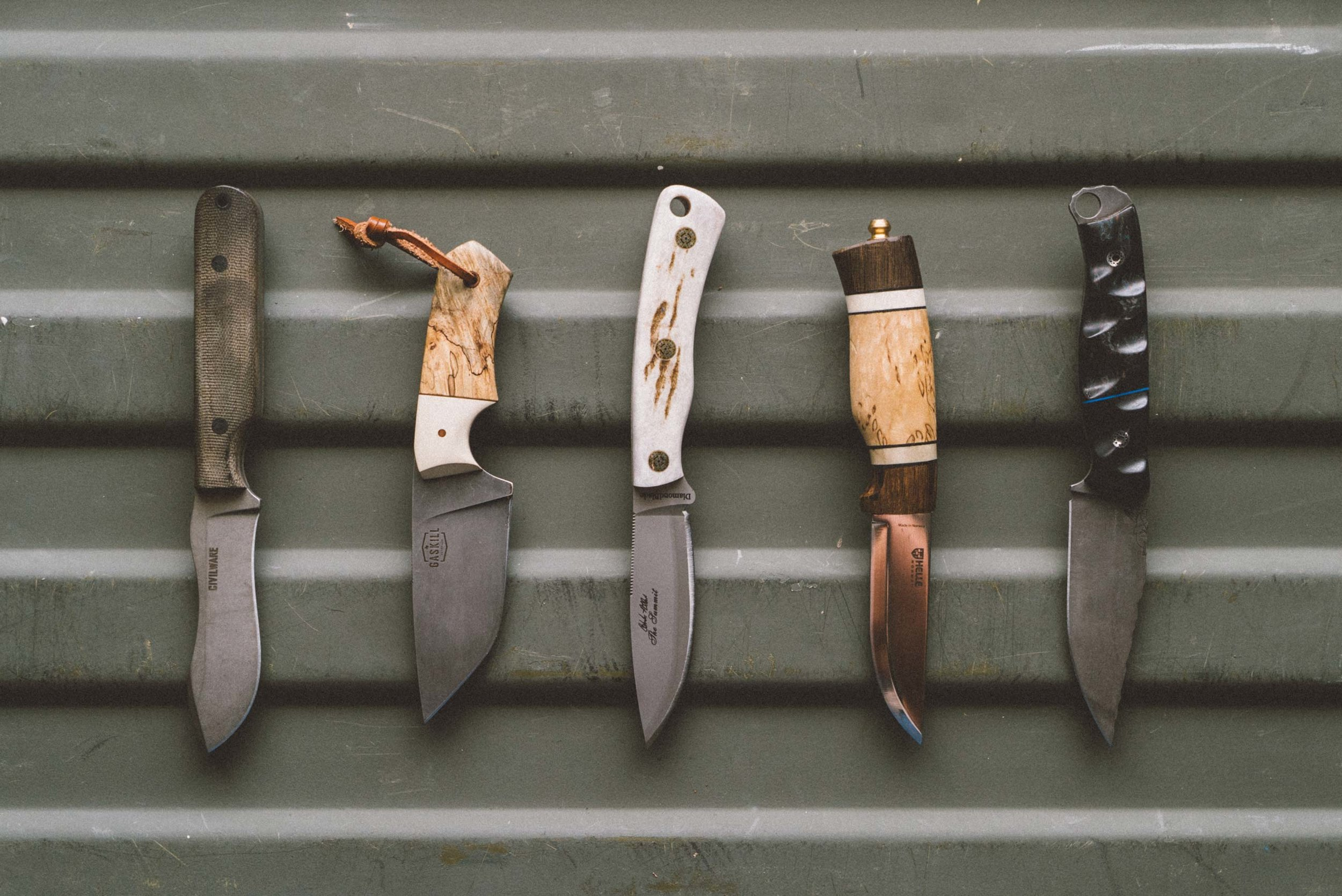 Modern Huntsman Knife Review | Top Hunting Knives | Civilware | Half Face Blades | Diamond Blades | Helle | Gaskill