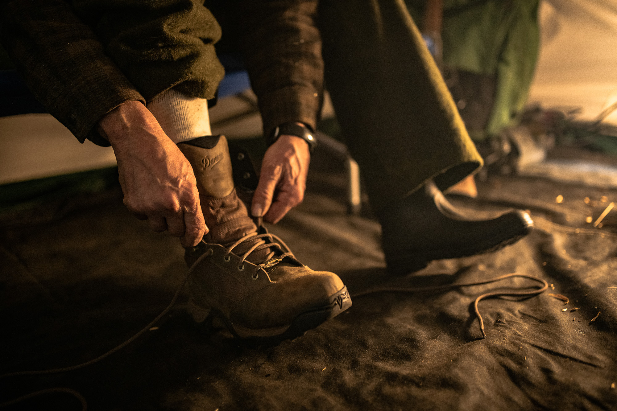 Though he wears just one, the Danner Pronghorn is his boot of choice.   Shop your size here
