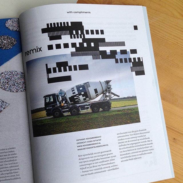 Our Remix project featured in Dude magazine 🤘#remix #dudemagazine #bno #dutchdesign #kijlstrabeton #novemberbravo #cementtruck #stevereich #emmen #graphicdesign