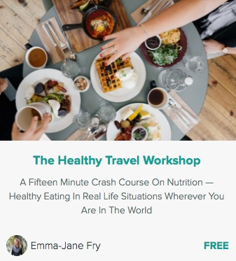 FREE MINI-COURSE - Learn how to feed yourself to turn off your hunger hormones, eat out anywhere without restricting yourself or feeling deprived, what you really need to know about healthy snacking and how to avoid crazy cravings — in just 30-minutes! Click here to get started >>>