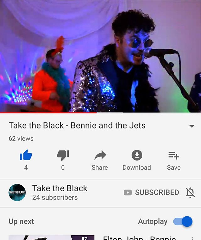 Go check out our music video for our cover of Bennie and the Jets by @eltonjohn ... now on YouTube, link in bio ... also on #spotify #applemusic #itunes . . . #musicvideo #spotifyplaylist #basstomouth #cover #eltonjohn #rocketman #rockstar #lyrics #song #music #musician #star #video #work #effort #guitarist #songwriter #bernietaupin #sing #singer