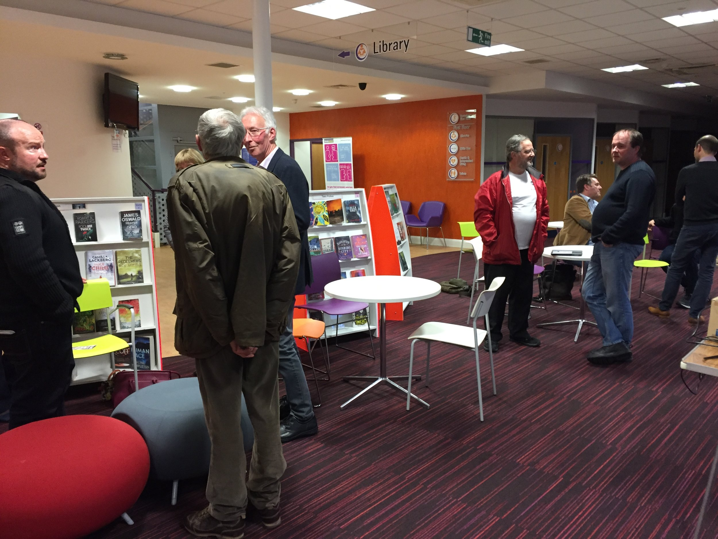 Informal discussions between the community and trustees