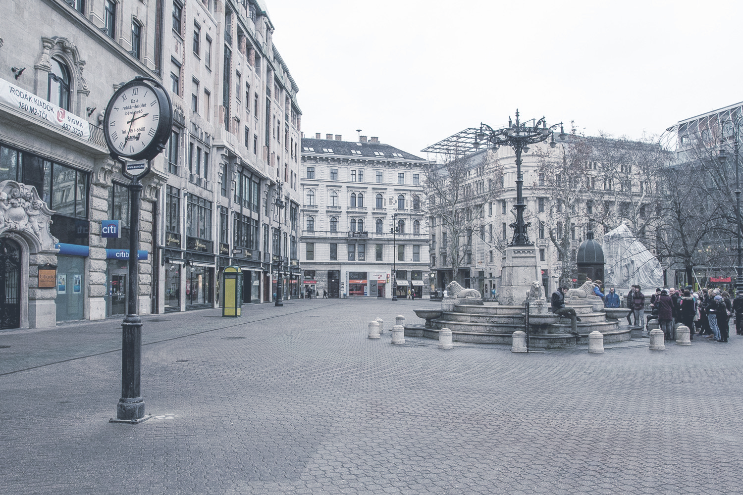Vörösmarty Square  Surrounded with varied architecture, it is the most elegant pedestrian zone in Budapest, In every December here you'll find the main Christmas Fair.    Read more  ||  Map