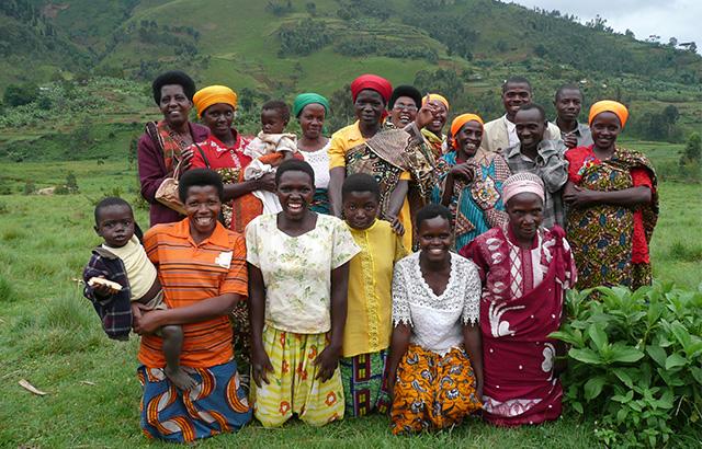 Members of a community savings group of rural farmers in Burundi.