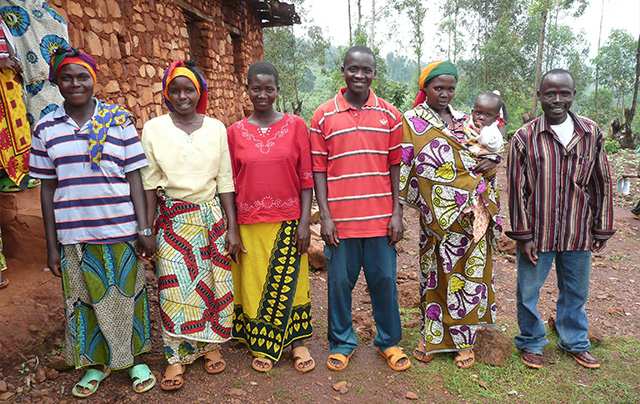A community savings group in Burundi with members from diverse tribes.