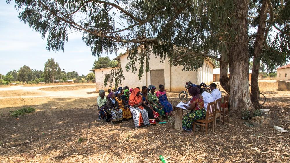 Community savings group meets in Isopilo, Tanzania