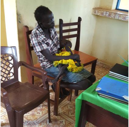 Akuol receives an emergency loan in South Sudan.