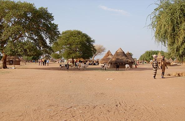 A community center in rural South Sudan