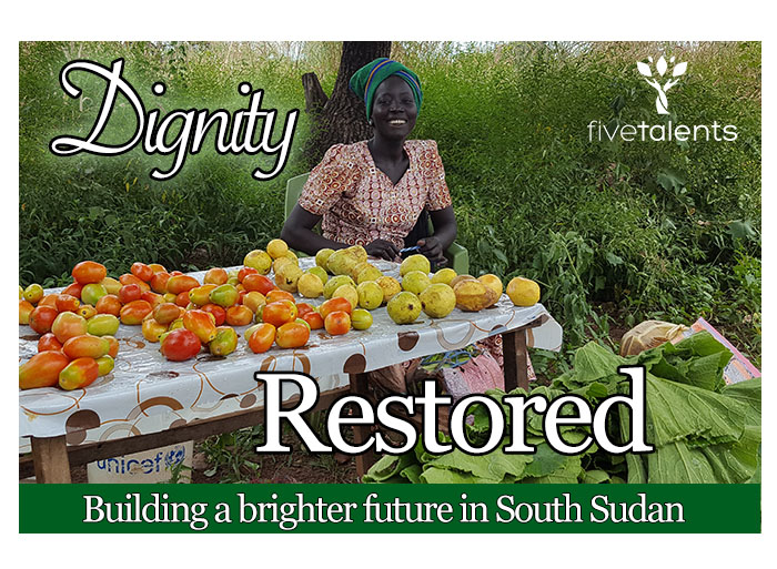 This gift supports vulnerable communities in South Sudan, a country affected by war and famine.  By working alongside local churches, Five Talents helps to build peace and promote sustainable development through community-owned savings programs.