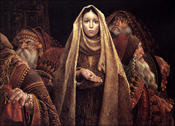 The Widow's Mite, Painting by James Christensen
