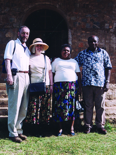 Martyn and Angela Minns with Simon and Gladys Chiwanga.