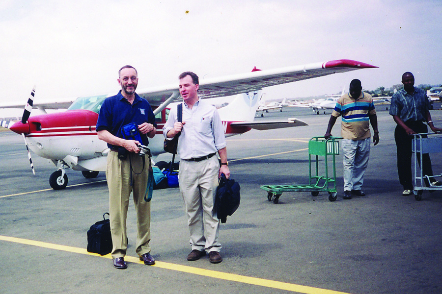 Martyn Minns and Craig Cole during a trip to Tanzania.