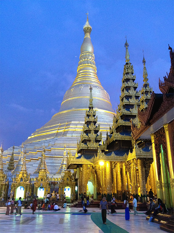 Yangon is the largest city in Myanmar with a population of over 5 million. It previously served as the nation's capital and it's commercial center is over 2,000 years old. The Shwedagon Pagoda in Myanmar is considered one of the world's most sacred places for Buddhists.