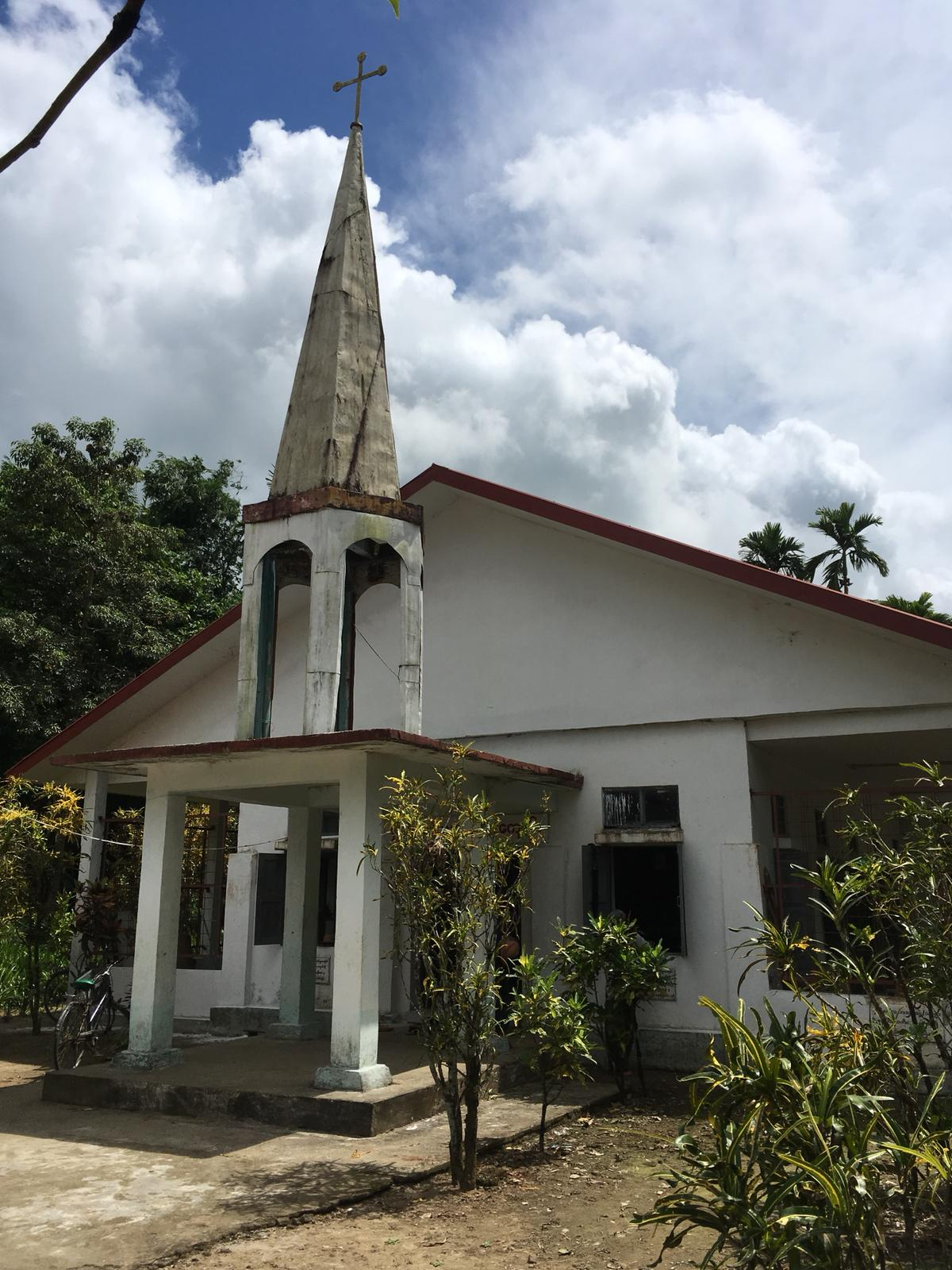 Christianity is practiced by only about 6% of the population of Myanmar. Churches like this one are used for worship services as well as centers for community gathering.