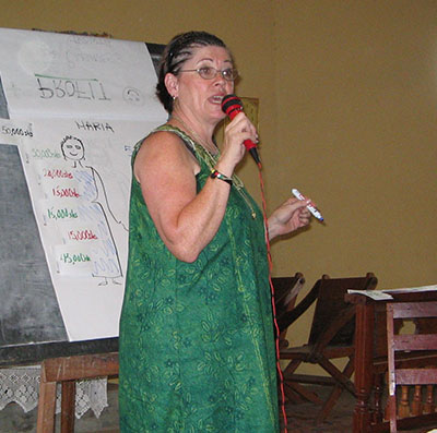 April Young during a business training seminar