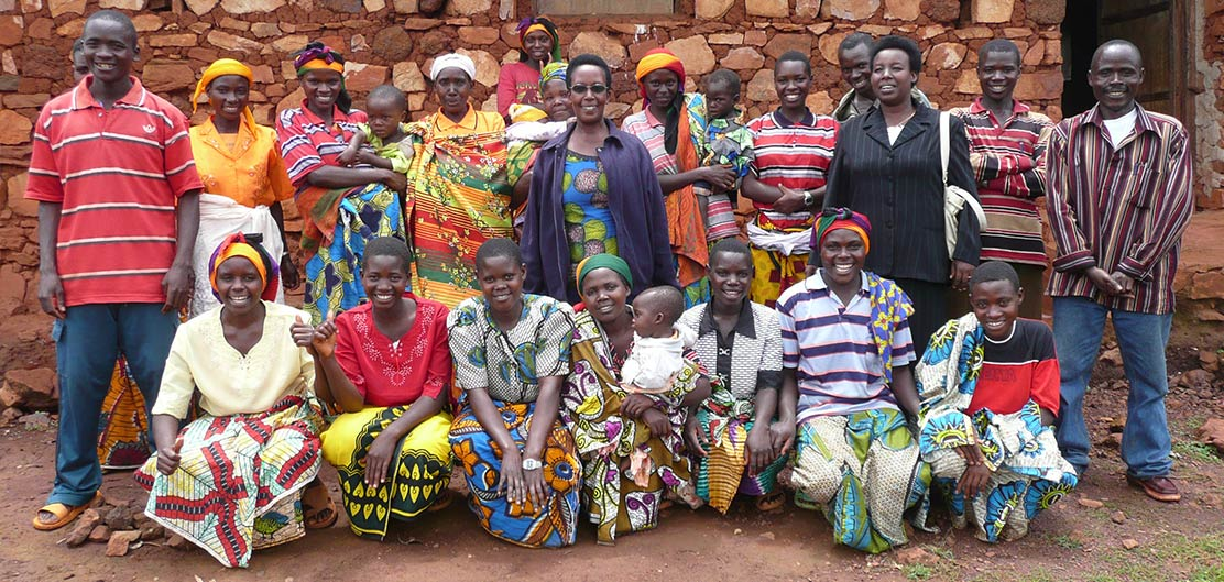 Members of a savings group for peer to peer lending in Burundi