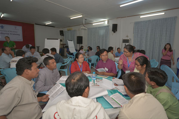 Church leaders in Myanmar discuss cooperative business opportunities in their dioceses.