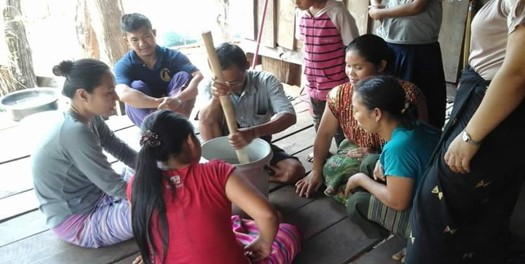 Villagers discuss and test new business opportunities in Myanmar.