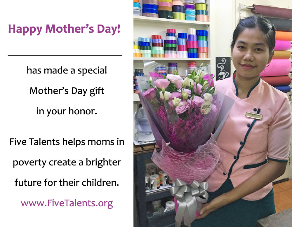 Mother's Day card from Five Talents