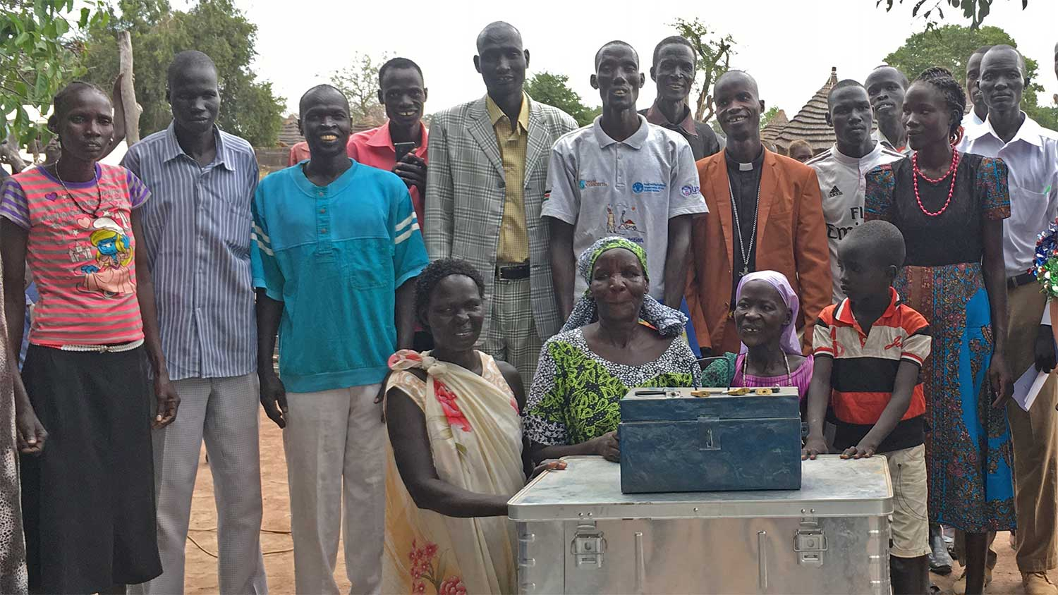 Members of a Five Talents savings group in South Sudan.