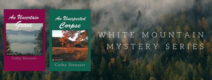 Cathy Strasser Author_White Mountains Mysteries Series header