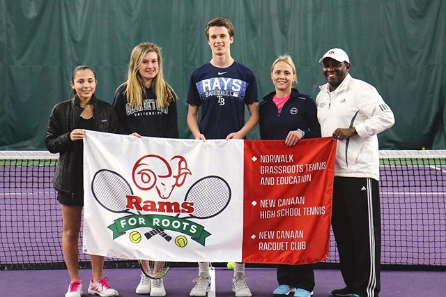 New Canaan Racquet Club has the privilege of hosting the Rams for Roots tennis event for @norwalkgrassrootstennis
