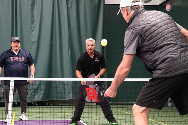 Our GM Len Simard and Head Pro Jamie Thorman @th0rmann getting IPTPA Pickleball Certified