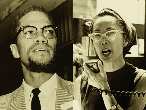 Malcolm X and Yuri Kochiyama. Image from  Massalijn