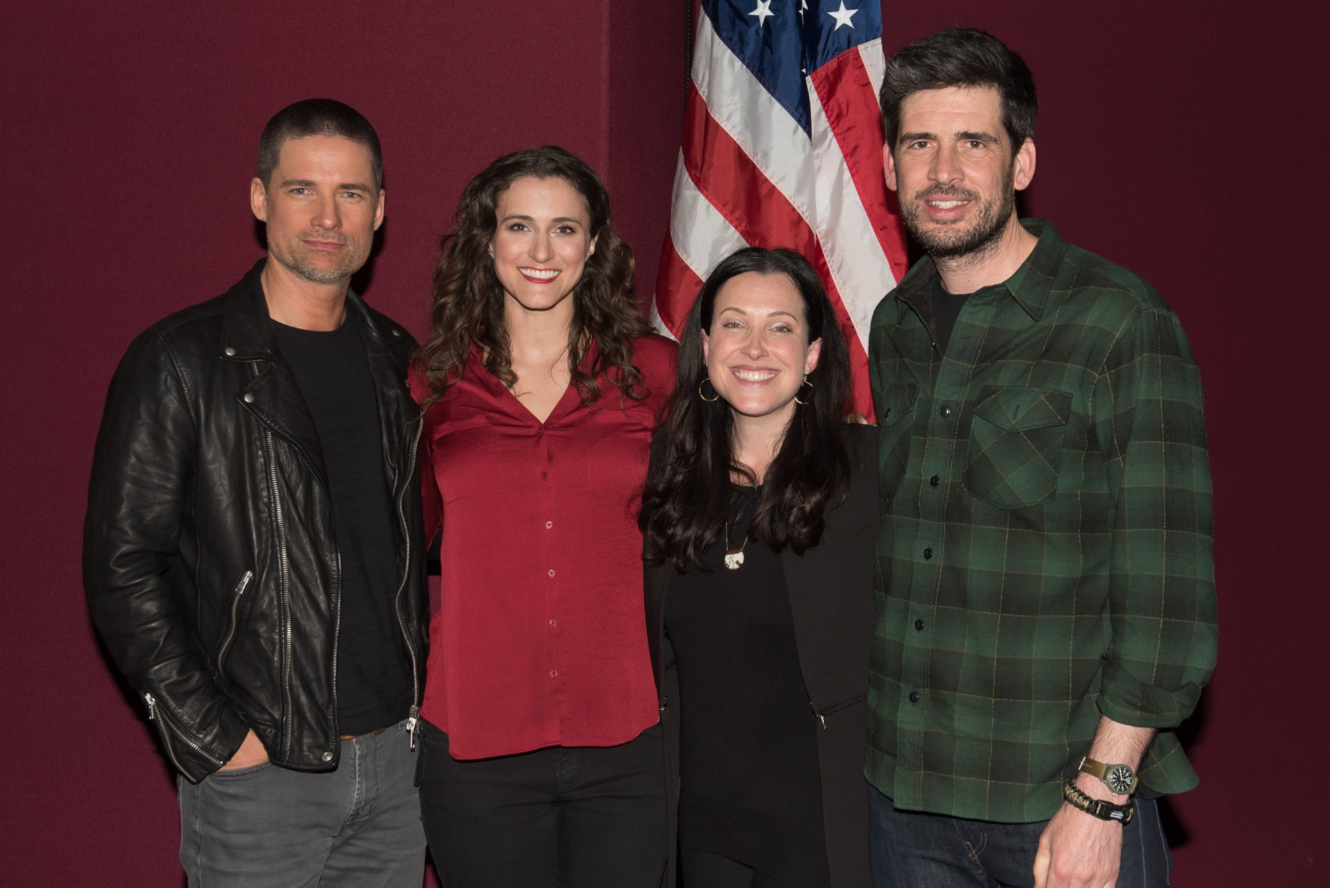 From left to right: Warren Christie ('Nick'), Shannon Corbeil (moderator), Jessica Rhoades (Executive Producer), Mike Daniels (Writer, Creator). Image by Scott Angelhart/NBC.