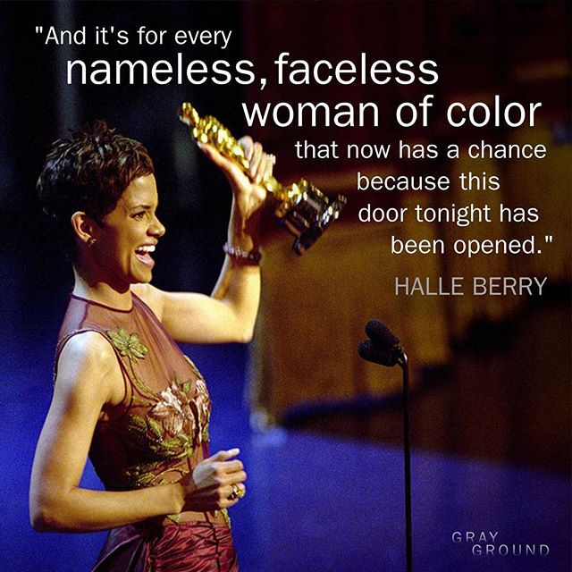 #FlashbackFriday to @halleberry becoming the first black woman to win the Oscar for #BestActress 🏆👏🏾